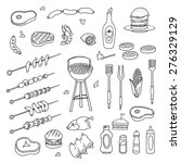 hand drawn barbecue related... | Shutterstock .eps vector #276329129
