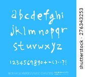 alphabet and numbers  ... | Shutterstock .eps vector #276343253