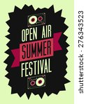 summer festival open air poster.... | Shutterstock .eps vector #276343523