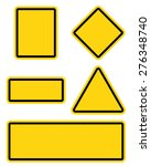 yellow roadsigns set | Shutterstock .eps vector #276348740