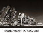 singapore skyline at night with ... | Shutterstock . vector #276357980