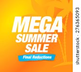 summer sale poster | Shutterstock .eps vector #276365093