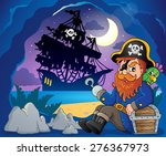 sitting pirate theme image 3  ... | Shutterstock .eps vector #276367973