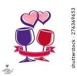 two wineglasses vector artistic ... | Shutterstock .eps vector #276369653