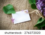 beautiful blooming lilac on the ... | Shutterstock . vector #276372020