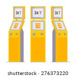 set of the payment terminals.... | Shutterstock .eps vector #276373220