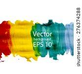 colorful watercolor blot