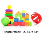 various colorful kid's toys... | Shutterstock . vector #276375434