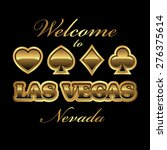 welcome to las vegas nevada... | Shutterstock .eps vector #276375614