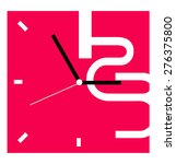 creative clock design. | Shutterstock .eps vector #276375800