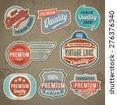 vintage label set. vector retro ... | Shutterstock .eps vector #276376340