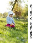 cute little girl playing in the ... | Shutterstock . vector #276383828