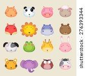 Stock vector illustration of a cute animal head 276393344