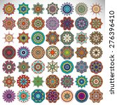 Mandalas collection. Round Ornament Pattern. Vintage decorative elements. Hand drawn background. Islam, Arabic, Indian, ottoman motifs.