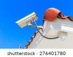security camera on blue sky... | Shutterstock . vector #276401780