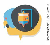 iv bag flat icon with long... | Shutterstock .eps vector #276403940