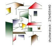 home abstract | Shutterstock .eps vector #276405440