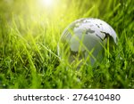 Glass Globe In The Grass...