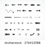 arrows icons  arrows icons set  | Shutterstock .eps vector #276413588