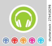headphone dj icon sign symbol... | Shutterstock .eps vector #276418298