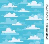 clouds cartoons flat on a blue... | Shutterstock .eps vector #276418940