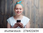 youth and technology. texting... | Shutterstock . vector #276422654