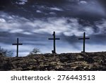 The Old Rugged Wooden Cross Of...