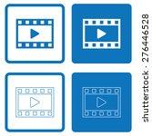 film or media icons | Shutterstock .eps vector #276446528