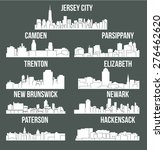 set of 9 city in new jersey
