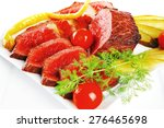 Grilled Beef Meat Entrecote On...