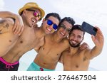 Group Of Four Male Friend...