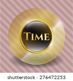 time gold shiny emblem with... | Shutterstock .eps vector #276472253