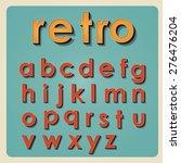 vintage alphabet. retro type... | Shutterstock .eps vector #276476204