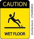 caution wet floor | Shutterstock .eps vector #276480803