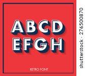 3d Retro Font Typeface...
