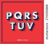 3d retro font typeface... | Shutterstock .eps vector #276500888