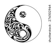yin yang symbol with decorative ... | Shutterstock .eps vector #276502964