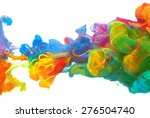 clouds of bright colorful ink...