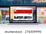 directly front view of apple 15 ... | Shutterstock . vector #276509990