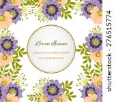 wedding invitation card with... | Shutterstock .eps vector #276515774