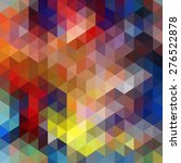 colorful triangle abstract... | Shutterstock .eps vector #276522878
