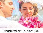 bride and groom  young loving... | Shutterstock . vector #276524258