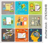 flat icons design concept... | Shutterstock .eps vector #276524648