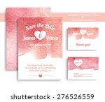 vector set of invitation cards... | Shutterstock .eps vector #276526559