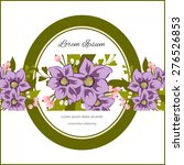 invitation card with floral... | Shutterstock .eps vector #276526853