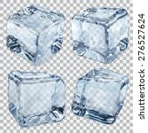 Set Of Four Transparent Ice...