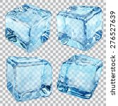 set of four transparent ice... | Shutterstock .eps vector #276527639