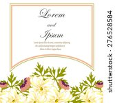 invitation card with floral... | Shutterstock . vector #276528584