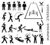 cricket player actions poses... | Shutterstock .eps vector #276531614