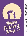 silhouette of father and son... | Shutterstock .eps vector #276539060
